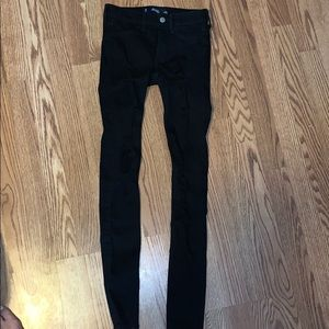 Women's super skinny black jeans